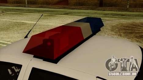 Lada Priora 2170 Polícia DPS de Moscou para GTA San Andreas vista direita