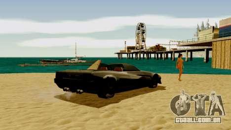 DLC garagem do GTA online de transporte novo para GTA San Andreas quinto tela