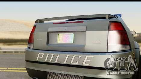 EFLC TBoGT Albany Police Stinger SA Mobile para GTA San Andreas traseira esquerda vista