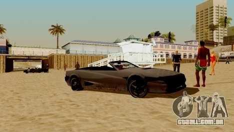 DLC garagem do GTA online de transporte novo para GTA San Andreas oitavo tela