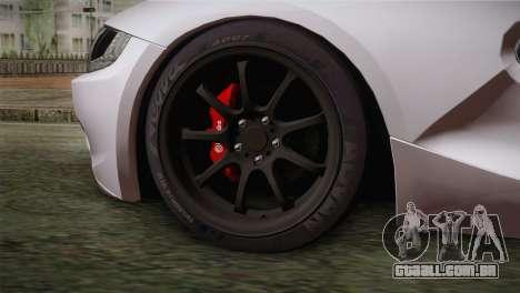 BMW Z4 V10 IVF para GTA San Andreas traseira esquerda vista