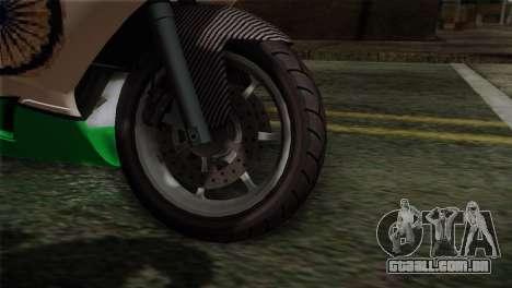 GTA 5 Bati Indian para GTA San Andreas traseira esquerda vista