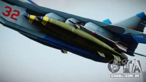 MIG-29 Russian Falcon para GTA San Andreas vista direita