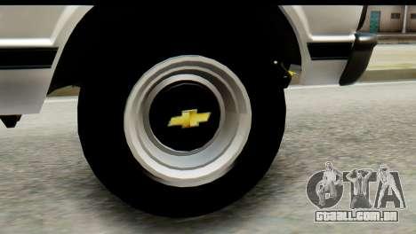Chevrolet C10 Patrulla para GTA San Andreas traseira esquerda vista