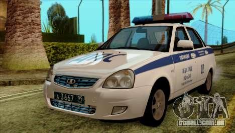 Lada Priora 2170 Polícia DPS de Moscou para GTA San Andreas
