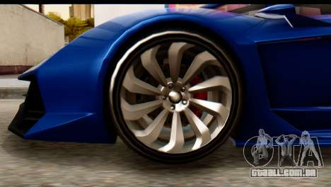 GTA 5 Pegassi Zentorno v2 para GTA San Andreas traseira esquerda vista