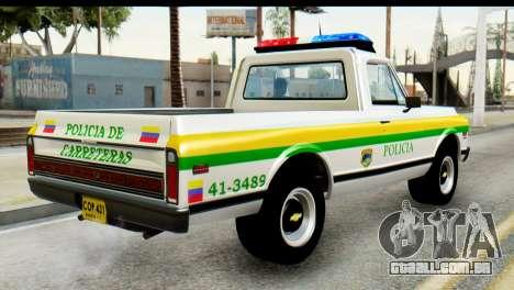 Chevrolet C10 Patrulla para GTA San Andreas esquerda vista