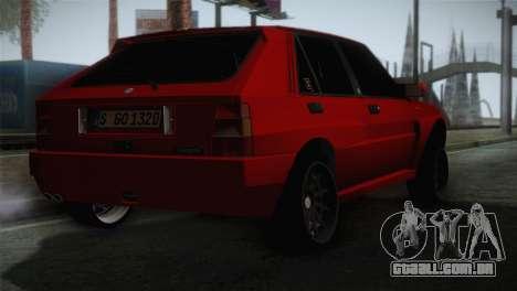 Lancia Delta EVO para GTA San Andreas esquerda vista