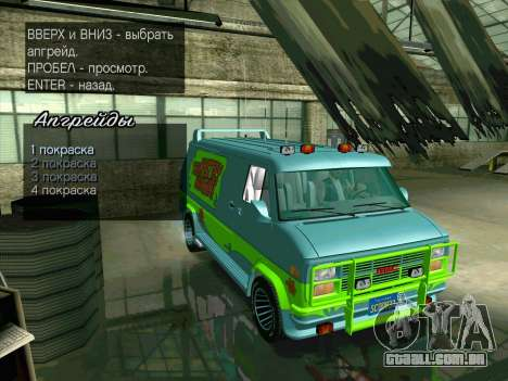 GMC The A-Team Van para GTA San Andreas vista superior