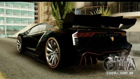 GTA 5 Pegassi Zentorno v2 SA Mobile para GTA San Andreas esquerda vista