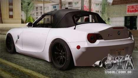 BMW Z4 V10 IVF para GTA San Andreas esquerda vista