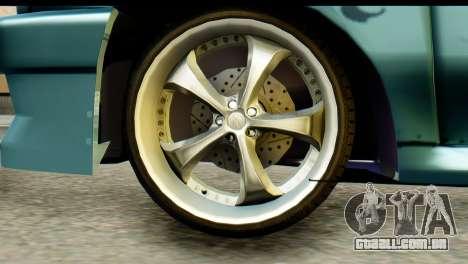 Ford Festiva Tuning para GTA San Andreas traseira esquerda vista