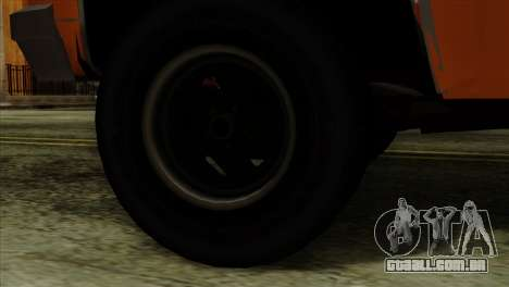 Chevrolet Custom Deluxe para GTA San Andreas traseira esquerda vista