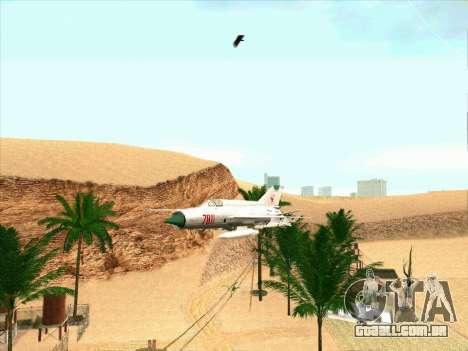MiG 21 para GTA San Andreas esquerda vista