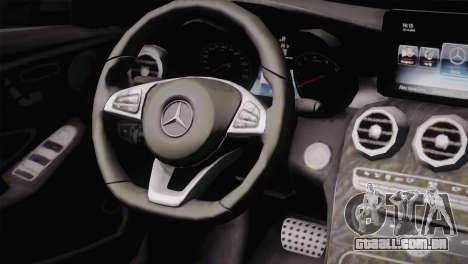 Mercedes-Benz C250 AMG Edition 2014 EU Plate para GTA San Andreas vista direita