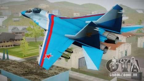 MIG-29 Russian Falcon para GTA San Andreas esquerda vista