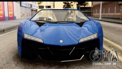 GTA 5 Pegassi Zentorno v2 para GTA San Andreas vista interior
