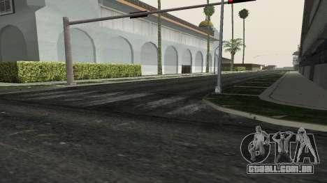 Estradas e vegetação Los Santos para GTA San Andreas por diante tela