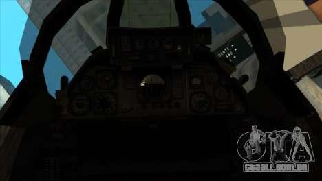 F-14 Black Storm para GTA San Andreas vista traseira