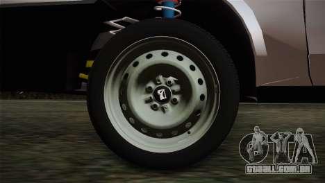 VAZ 2108 Escoamento para GTA San Andreas traseira esquerda vista