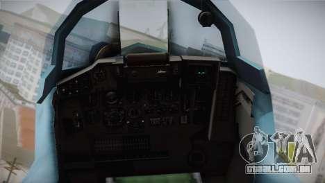 MIG-29 Russian Falcon para GTA San Andreas vista traseira