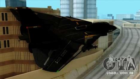 F-14 Black Storm para GTA San Andreas esquerda vista