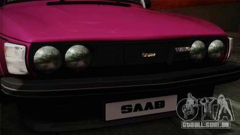 Saab 99 Turbo Stance para GTA San Andreas vista traseira
