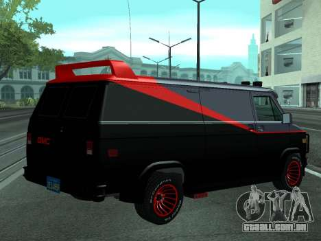 GMC The A-Team Van para GTA San Andreas esquerda vista