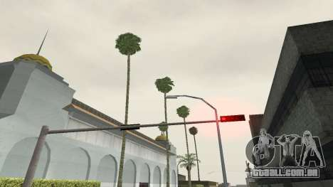 Estradas e vegetação Los Santos para GTA San Andreas quinto tela