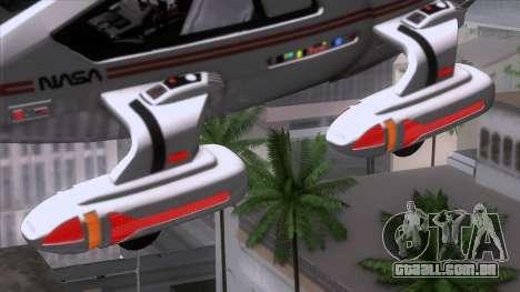 Shuttle v2 Mod 2 para GTA San Andreas traseira esquerda vista
