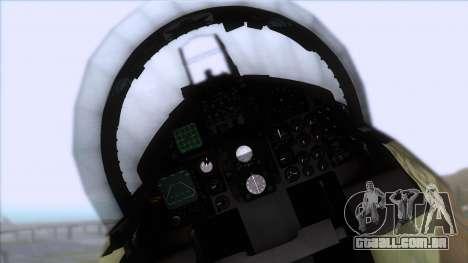 F-15C Camouflage Pack para GTA San Andreas vista traseira