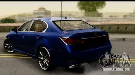 Lexus GS350 para GTA San Andreas esquerda vista
