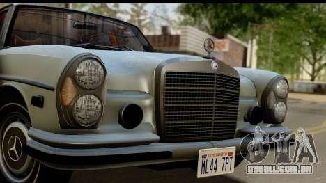 Mercedes-Benz 300 SEL 6.3 (W109) 1967 FIV АПП para GTA San Andreas traseira esquerda vista
