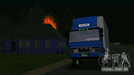Mitsubishi Fuso The Great para GTA San Andreas esquerda vista