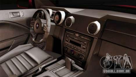 Ford Mustang GT PJ Wheels 2 para GTA San Andreas vista direita