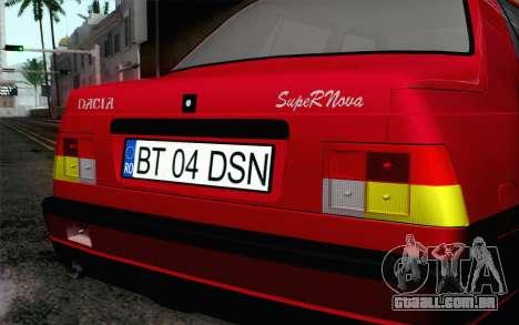 Dacia SuperNova para GTA San Andreas vista traseira