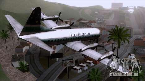 L-188 Electra Air New Zealand para GTA San Andreas esquerda vista