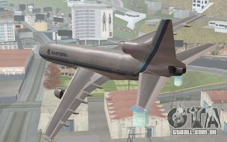Lookheed L-1011 Eastern Als para GTA San Andreas esquerda vista