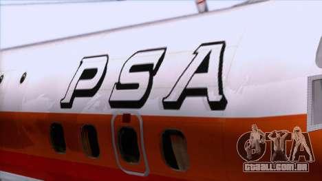 L-188 Electra PSA para GTA San Andreas vista traseira