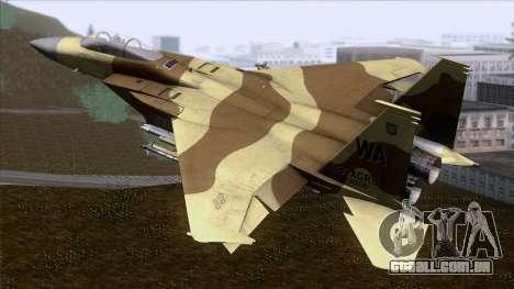 F-15C Camouflage Pack para GTA San Andreas esquerda vista