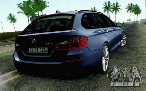 BMW 530d F11 Facelift HQLM para GTA San Andreas esquerda vista
