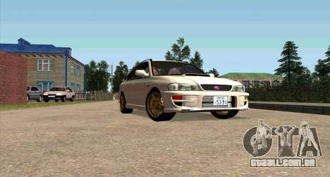 Subaru Impreza Sports Wagon WRX STI para GTA San Andreas vista interior