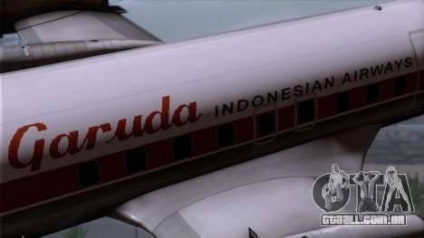 L-188 Electra Garuda Indonesia para GTA San Andreas vista direita