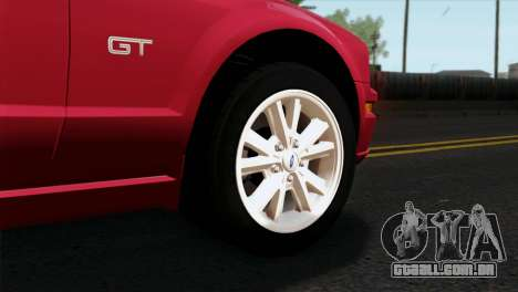 Ford Mustang GT PJ Wheels 2 para GTA San Andreas traseira esquerda vista