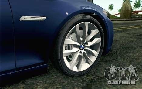 BMW 530d F11 Facelift HQLM para GTA San Andreas traseira esquerda vista