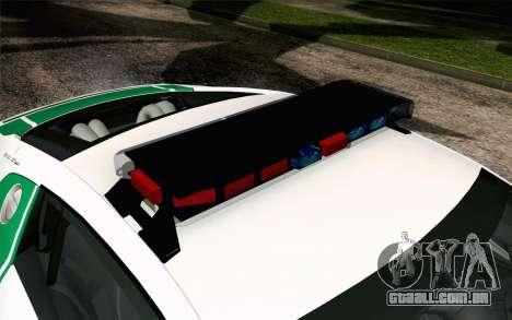 Audi R8 V8 FSI 2014 Dubai Police para GTA San Andreas vista traseira