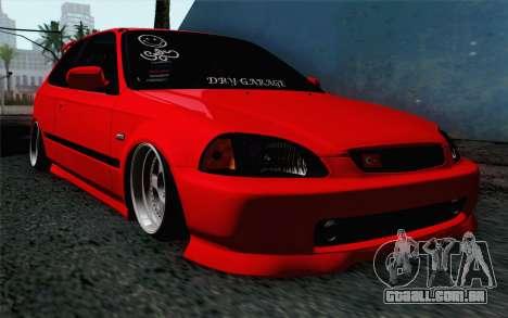 Honda Civic DRY Garage para GTA San Andreas