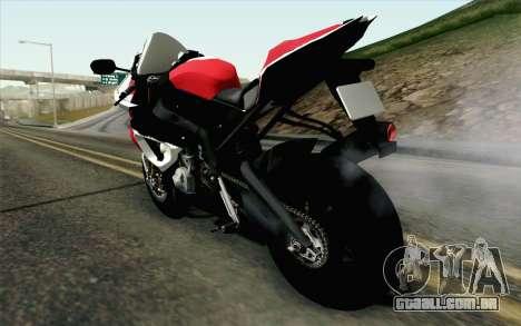 BMW S1000RR HP4 v2 Red para GTA San Andreas esquerda vista