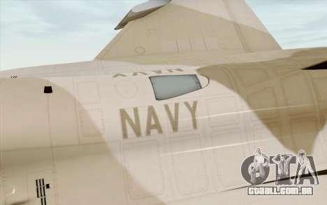 F-16C Fighting Falcon NSAWC Brown para GTA San Andreas vista direita