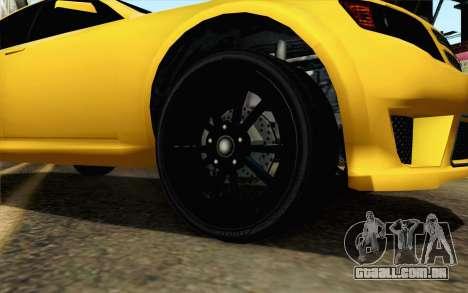 GTA 5 Cheval Fugitivo FIV АПП para GTA San Andreas traseira esquerda vista